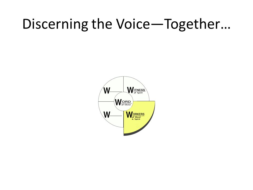 Discerning the Voice—Together…