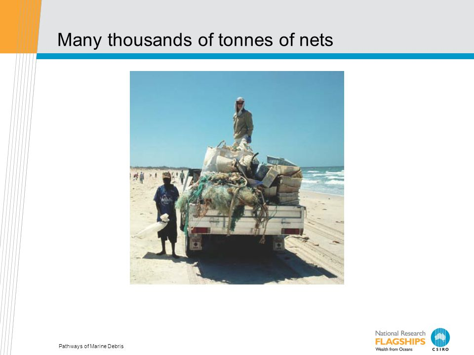 Pathways of Marine Debris Many thousands of tonnes of nets