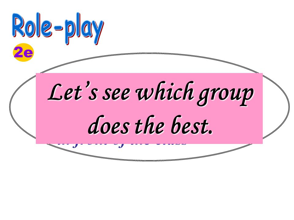 1. Role play the conversation in groups; 2.