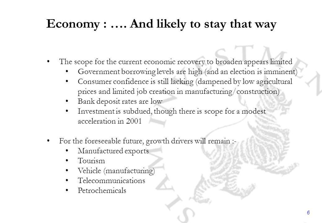 6 Economy : ….