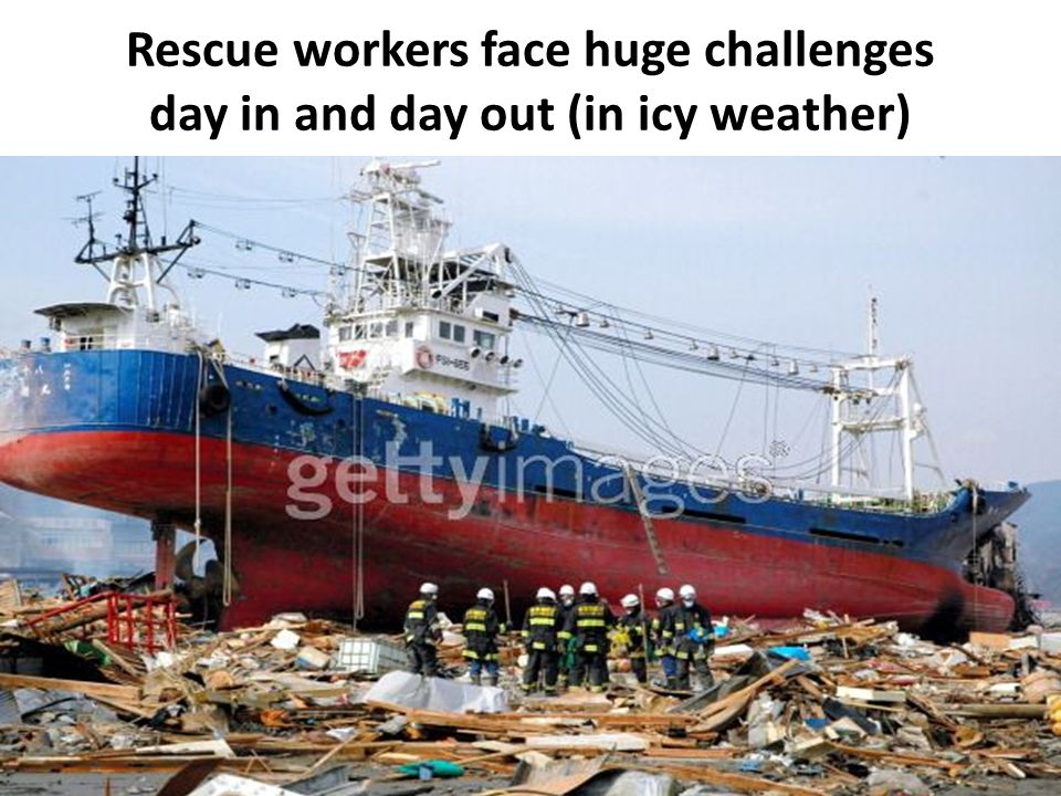 Rescue workers face huge challenges day in and day out (in icy weather)