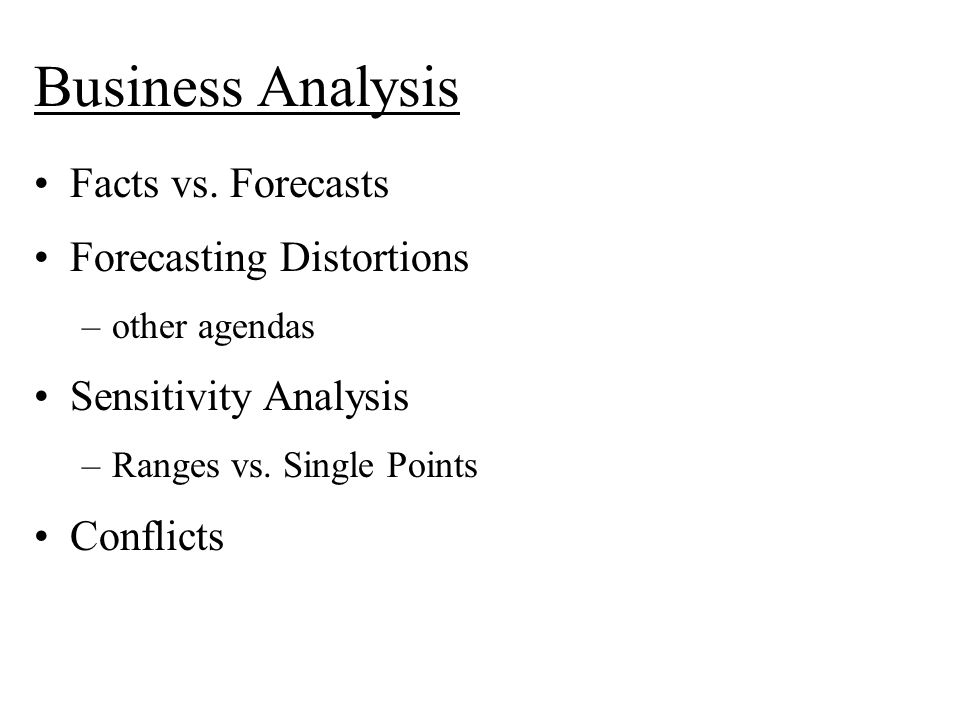 Business Analysis Facts vs.