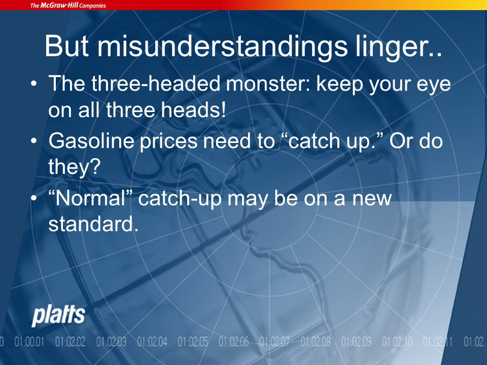 But misunderstandings linger.. The three-headed monster: keep your eye on all three heads.
