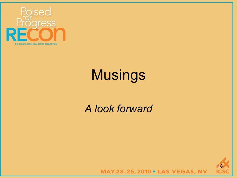 Musings A look forward 18