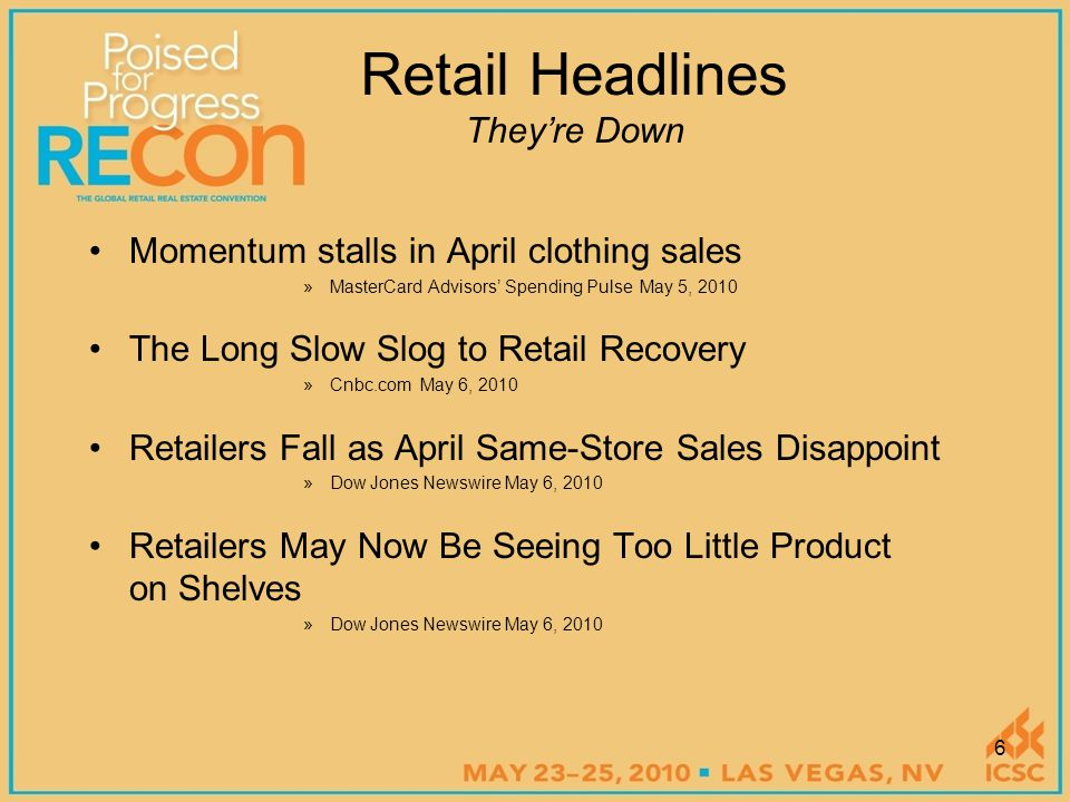 Healthier Retail Sales, but Will it Last.