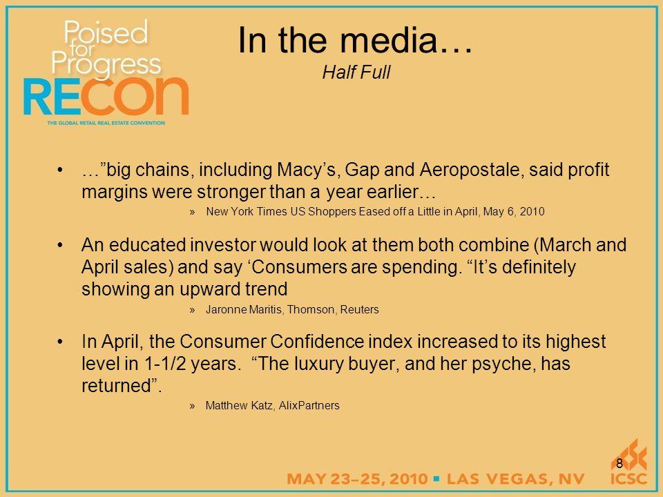 ICSC – 2010 RECon Board of Trustees Meeting Retail Update