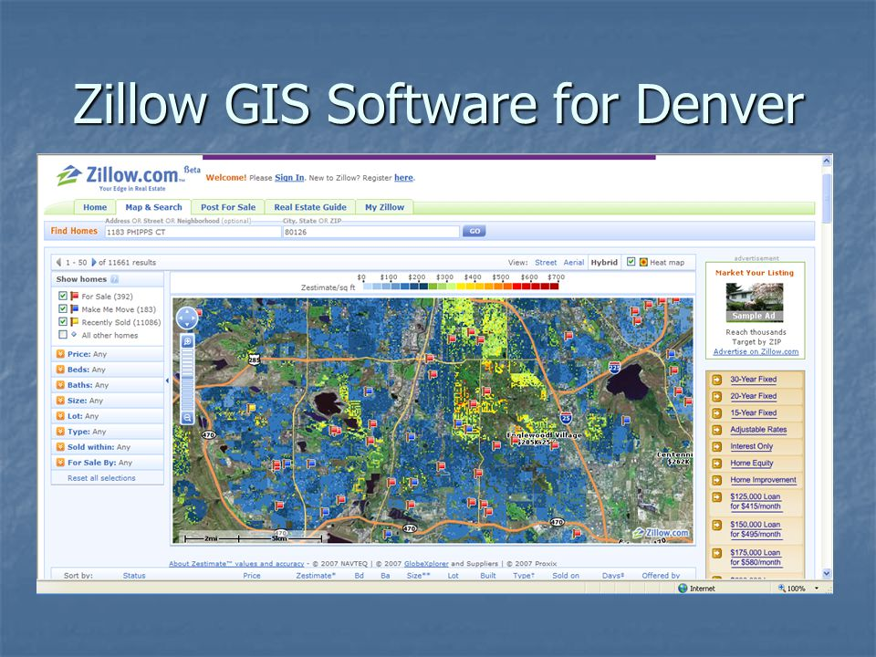Zillow GIS Software for Denver