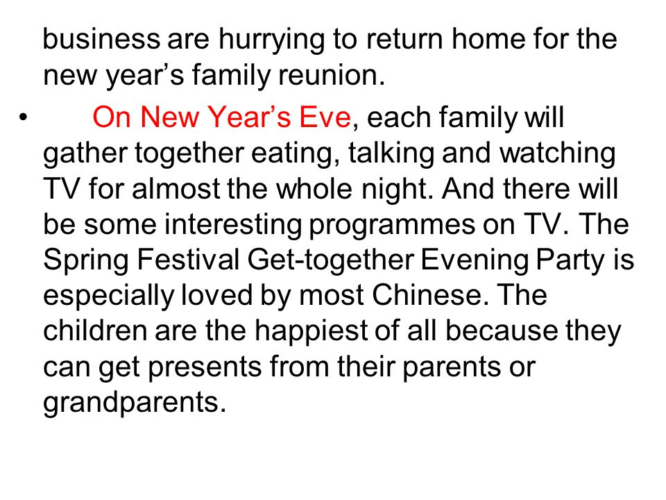 business are hurrying to return home for the new year's family reunion.