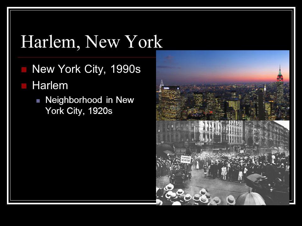 Harlem, New York New York City, 1990s Harlem Neighborhood in New York City, 1920s