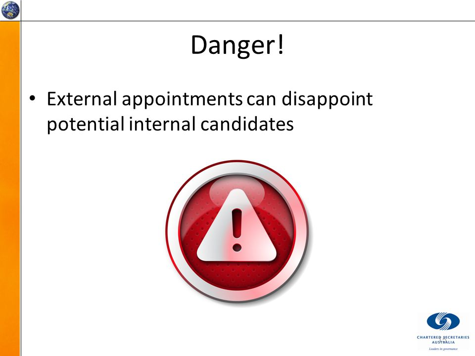 Danger! External appointments can disappoint potential internal candidates 15