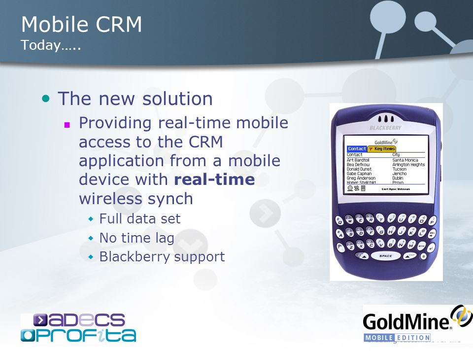 Mobile CRM Today…..