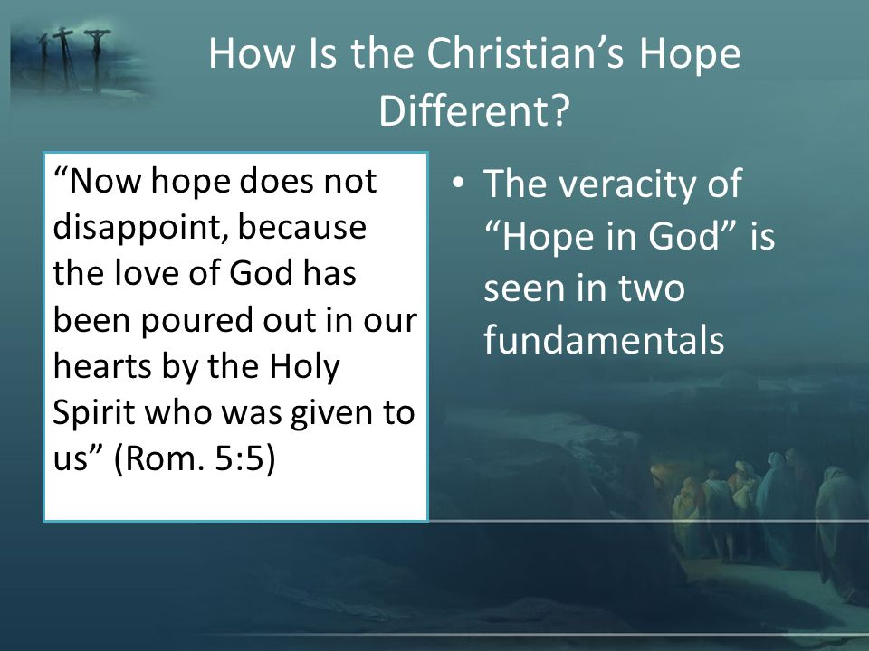 What About God's Hope For You.