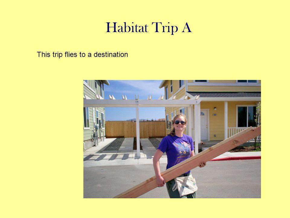 Habitat Trip A This trip flies to a destination