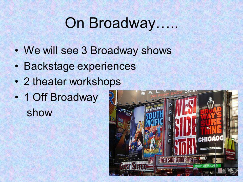 On Broadway…..