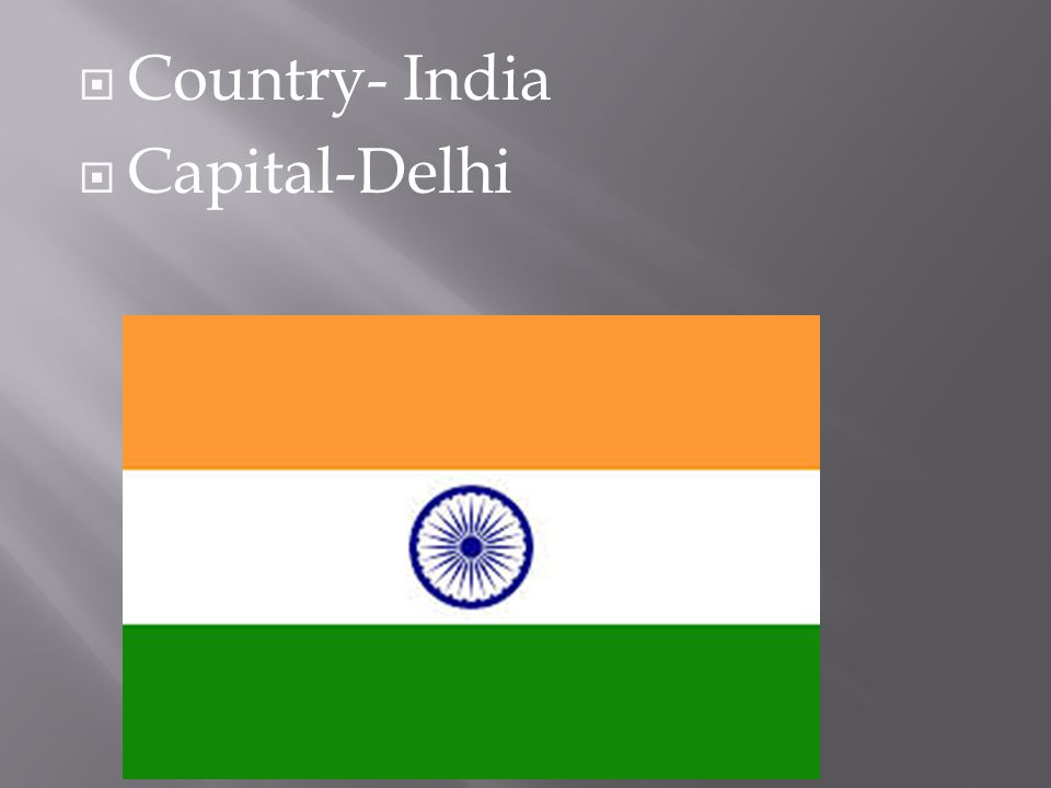  Country- India  Capital-Delhi