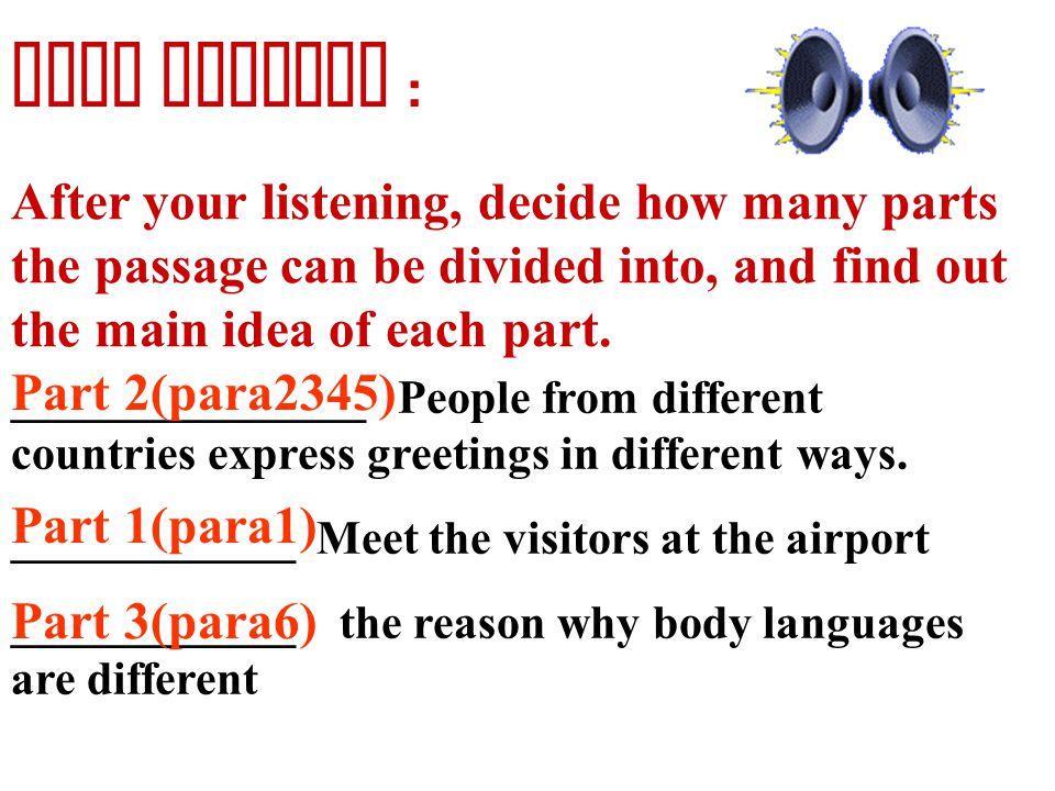Communication : No problem? Reading passage: