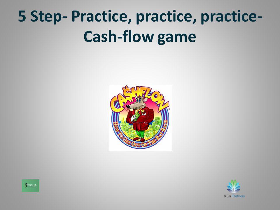 5 Step- Practice, practice, practice- Cash-flow game