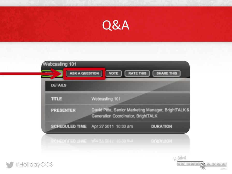 #HolidayCCS Q&A