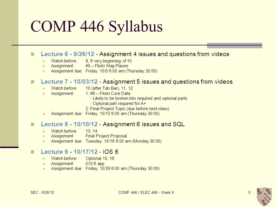 Review of Vides 8-10 Many of the slides to follow come directly from the Fall 2011 Stanford CS193p slide deck.