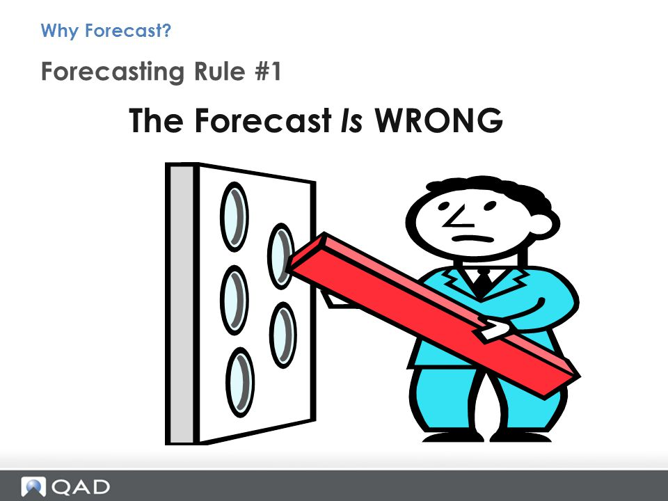 Forecasting Rule #1 Why Forecast The Forecast Is WRONG