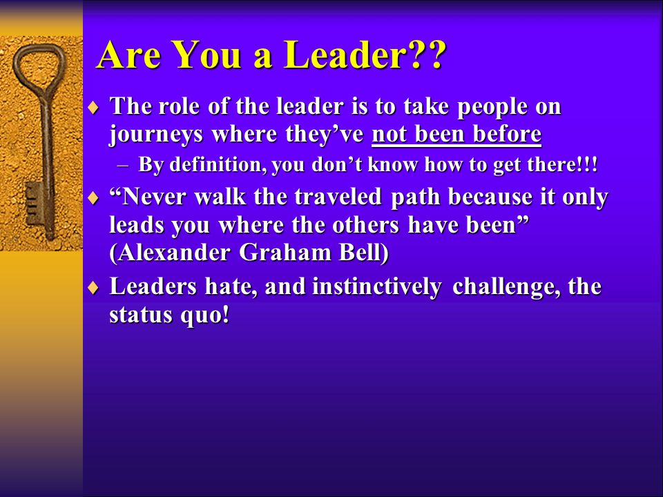 Are You a Leader .