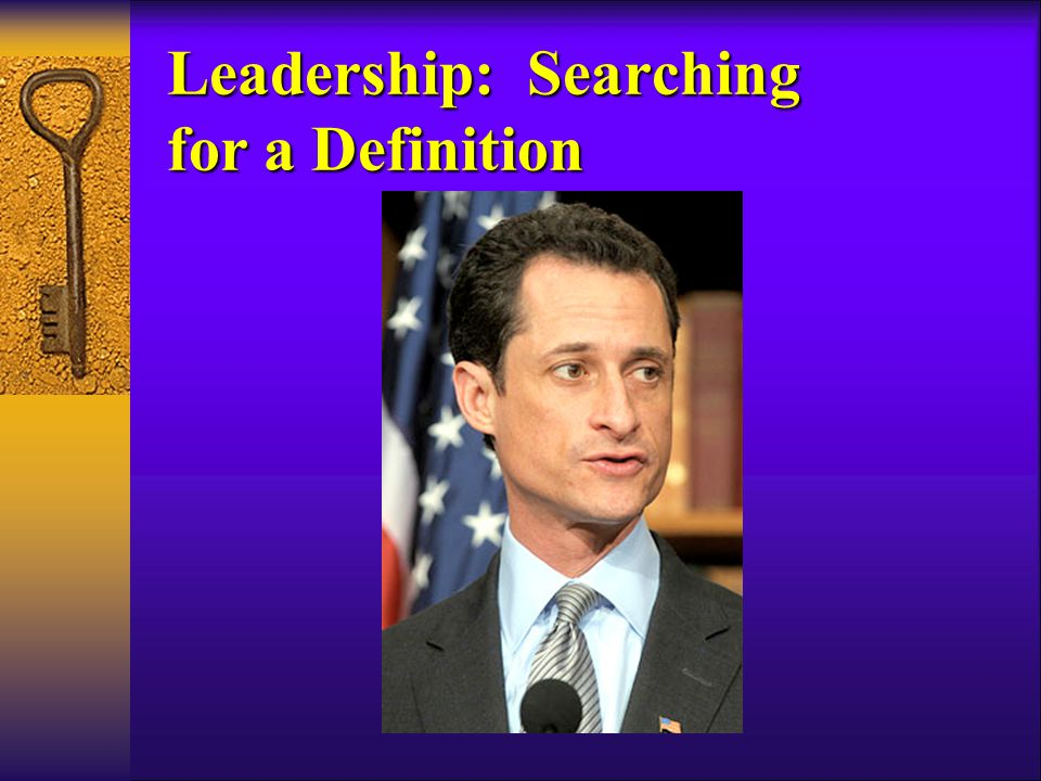 Leadership: Searching for a Definition