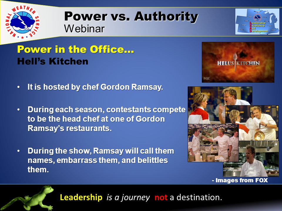 Power in the Office… Power in the Office… Hell's Kitchen It is hosted by chef Gordon Ramsay.It is hosted by chef Gordon Ramsay.