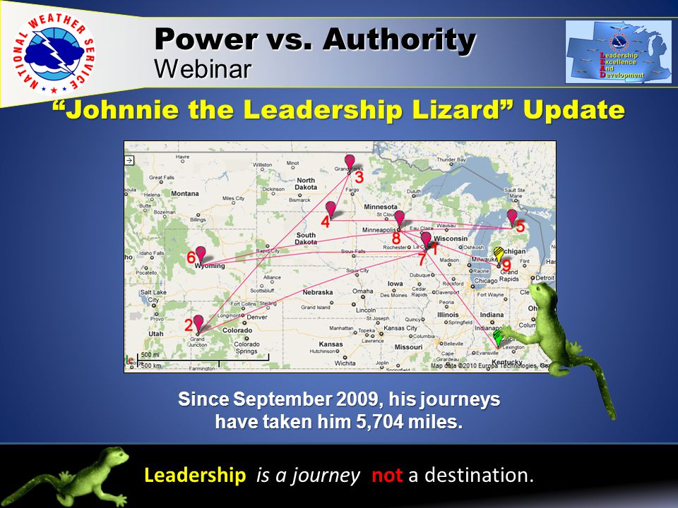 Webinar Leadership is a journey not a destination.