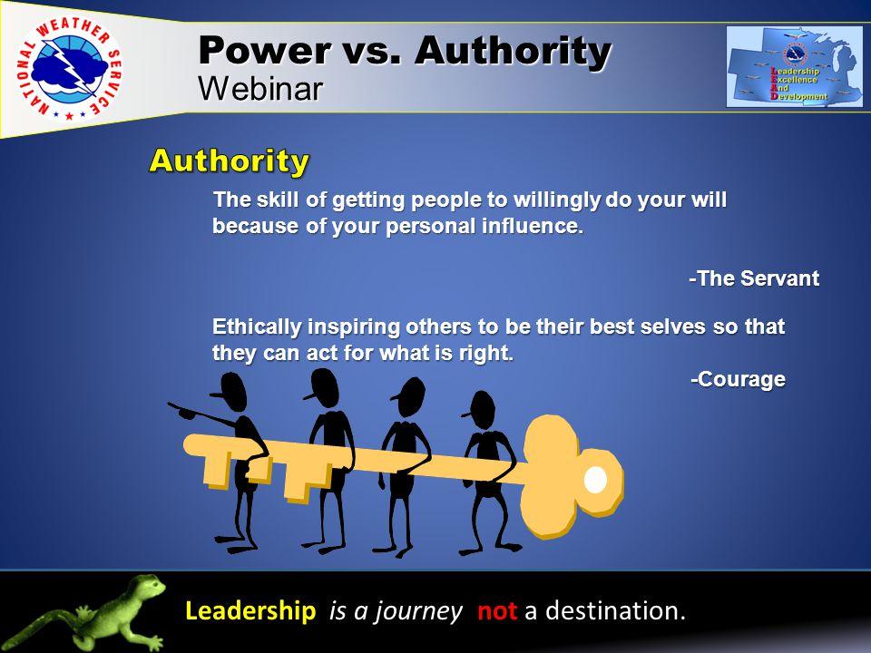 Webinar Leadership is a journey not a destination.