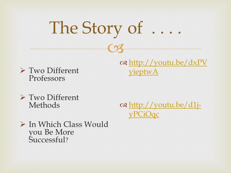  The Story of....