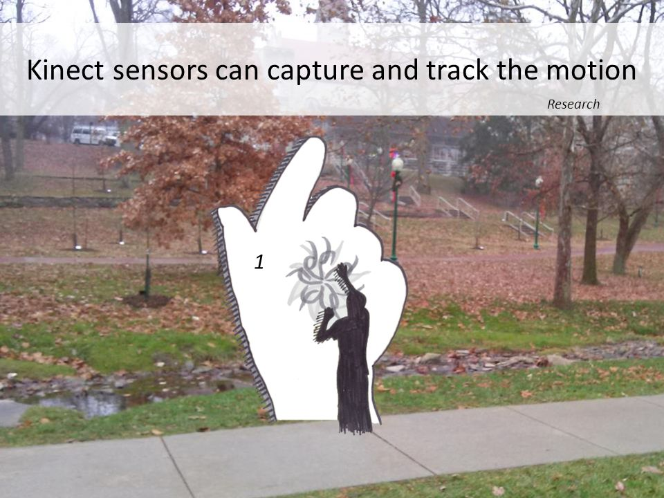 Kinect sensors can capture and track the motion Research 1