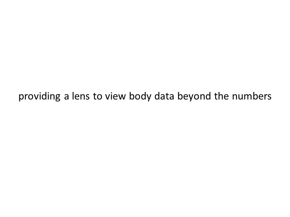 providing a lens to view body data beyond the numbers