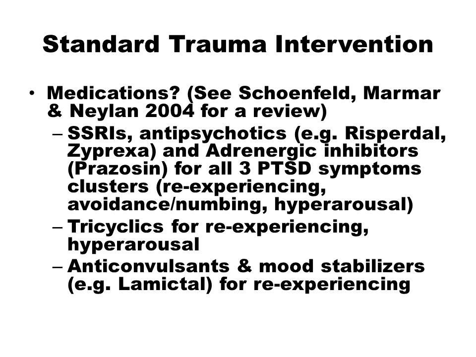 Standard Trauma Intervention Medications.