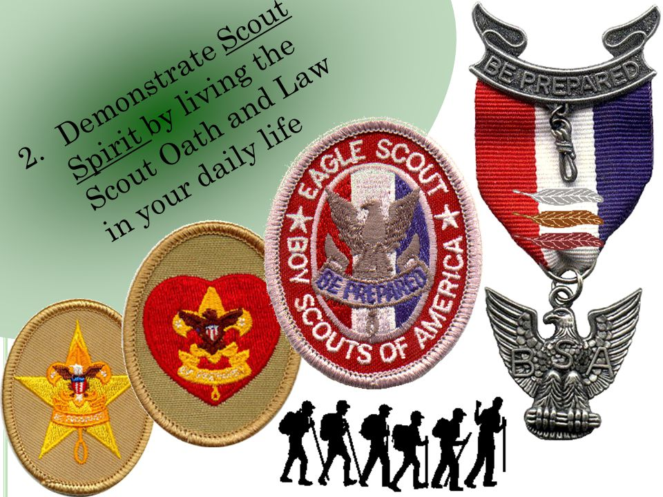 2. Demonstrate Scout Spirit by living the Scout Oath and Law in your daily life