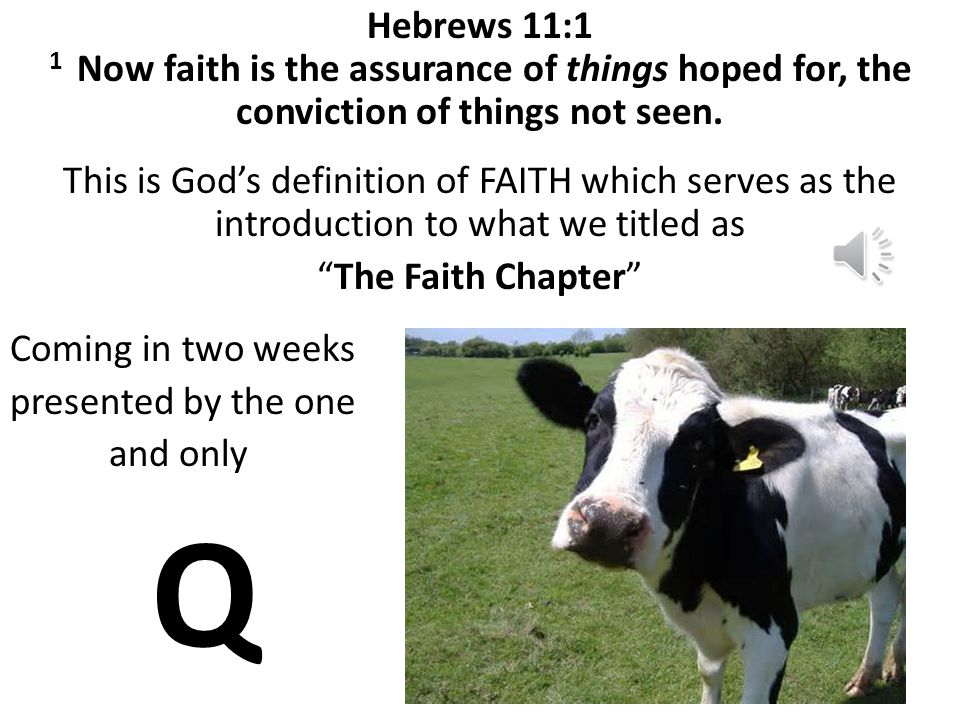 God speaks, and faith comes. Faith is the belief and trust of God as opposed to human belief and trust. Through it, we are able to believe and trust G