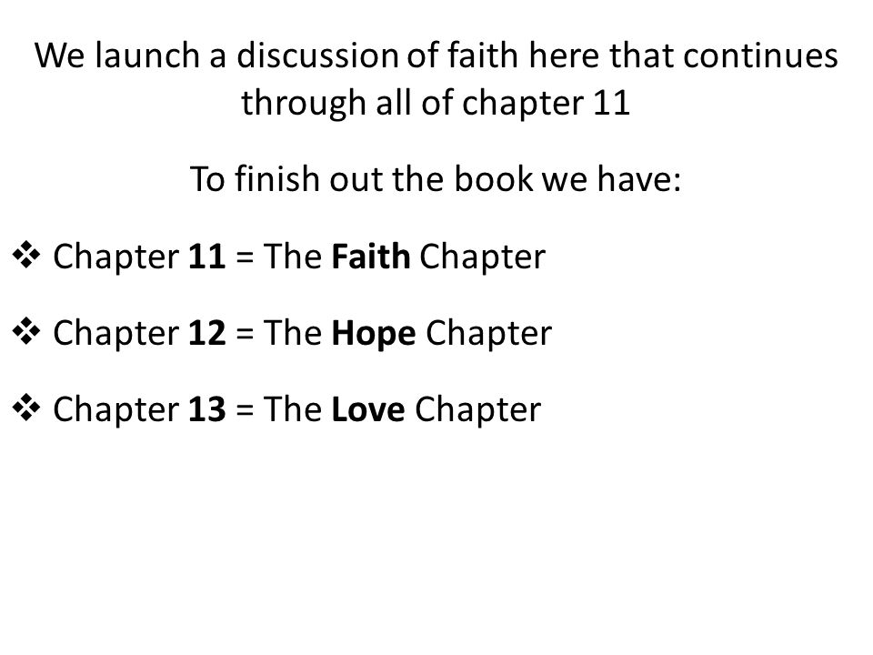 WHAT DO YOU THINK THE THEME OF TODAY'S STUDY IS ... FAITH