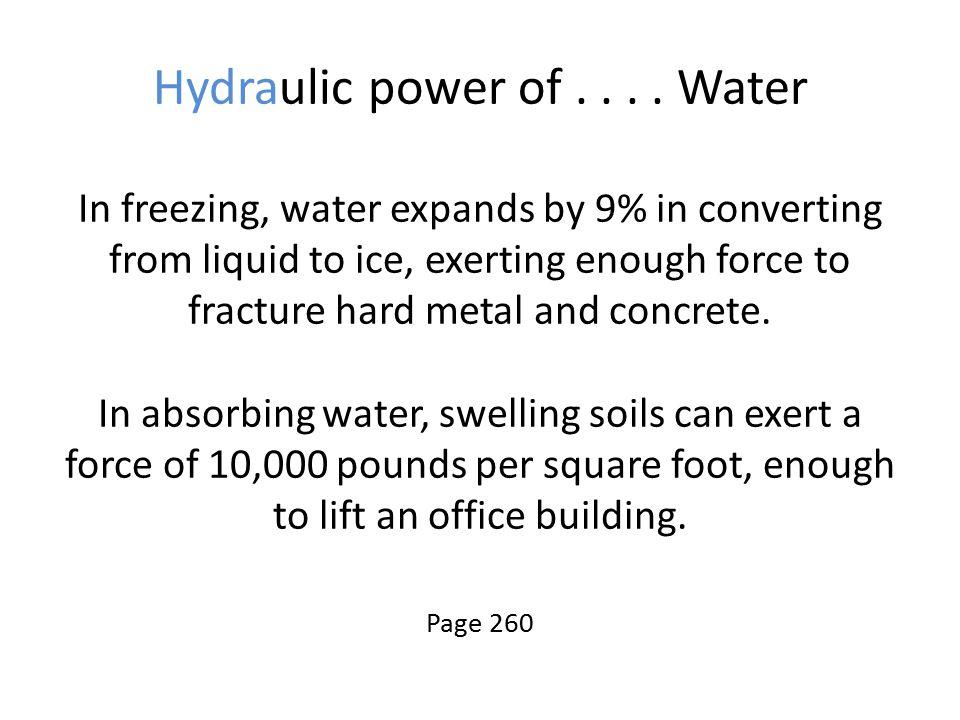 Hydraulic power of....