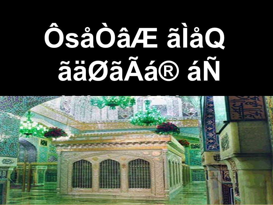ÔsåÒâÆ ãÌåQ ãäØãÃá® áÑ `Alí son of Músa,