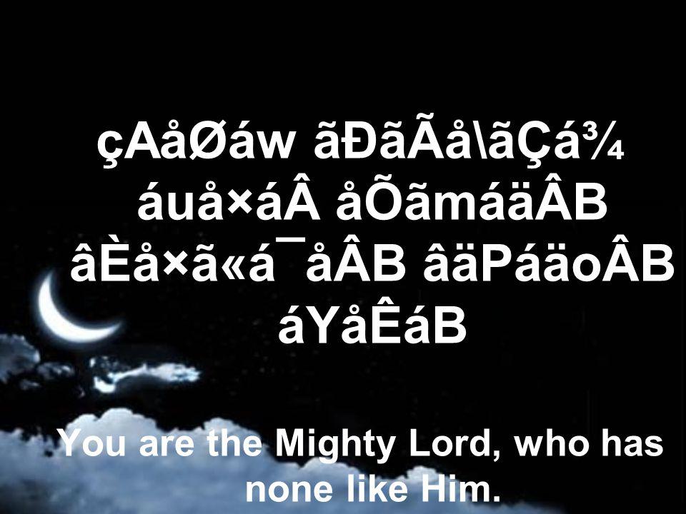 âAEáxáÖ CáÆ ãÐãWánåkâ»ãQ á´áÃáRᶠHe accomplishes what He wishes through His power.