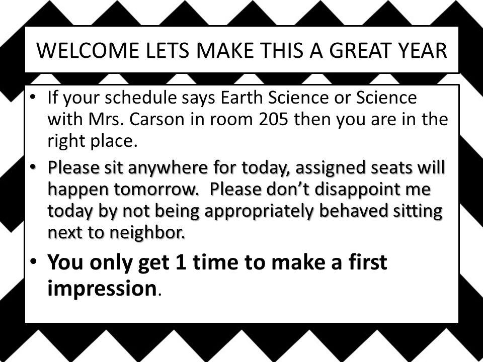CARSON'S CLASSROOM CODE THE 5 Ps
