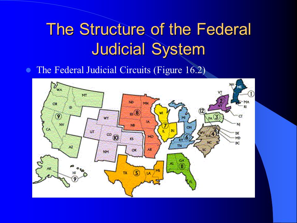 The Structure of the Federal Judicial System The Supreme Court – 9 justices – 1 Chief Justice, 8 Associate Justices – Supreme Court decides which cases it will hear – Some original jurisdiction, but mostly appellate jurisdiction.