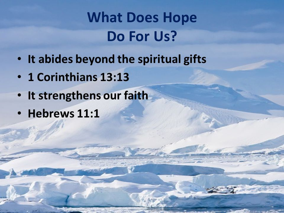 What Does Hope Do For Us.