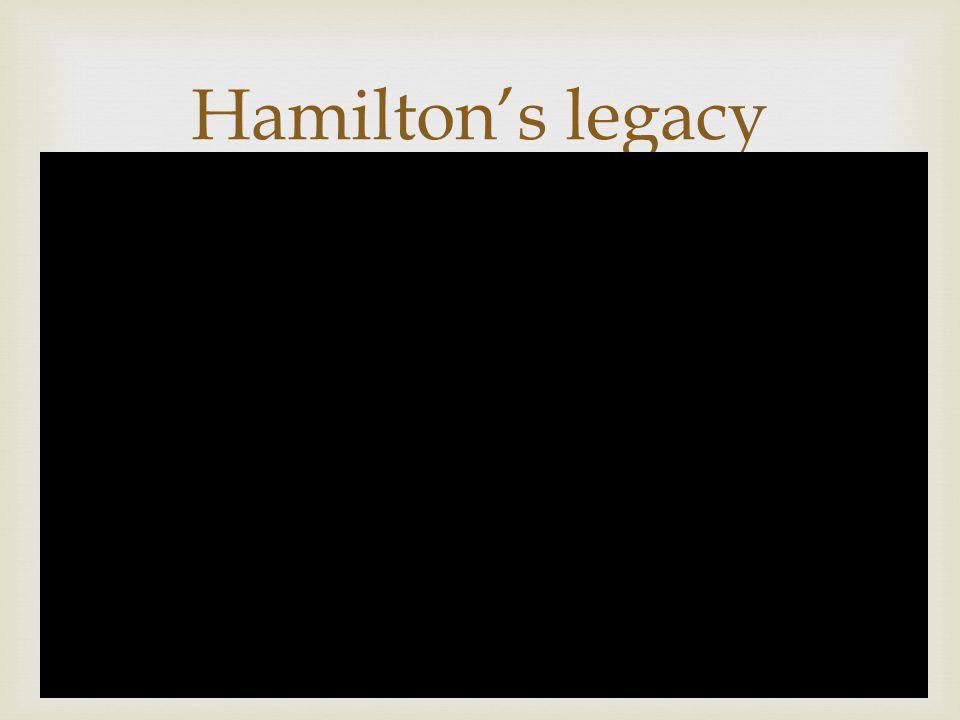  Hamilton's legacy