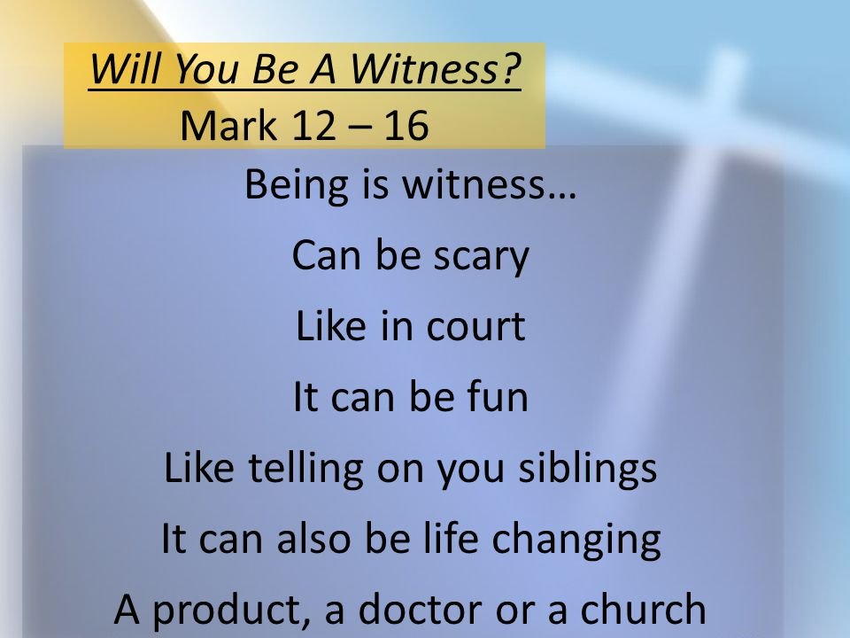 Jesus begins to reveal his identity Jesus gives witness of himself And I doing so guarantees his death