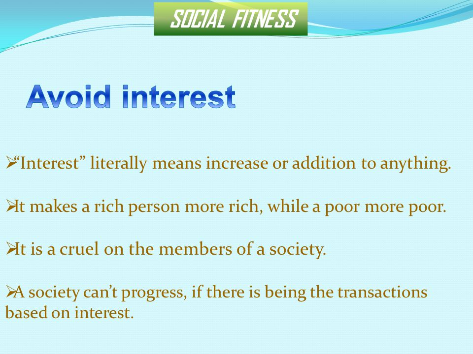 SOCIAL FITNESS  It causes to deprive a able person from his right.