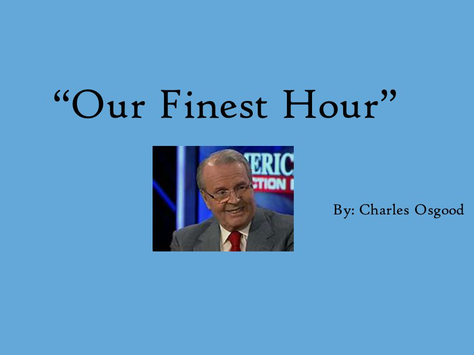 Charles Osgood Reporter-currently hosting CBS News Sunday Morning Writer-has written six books and numerous short stories Newspaper columnist: Writes a bi- weekly column January 8, 1933- Remember Horton Hears A Who.