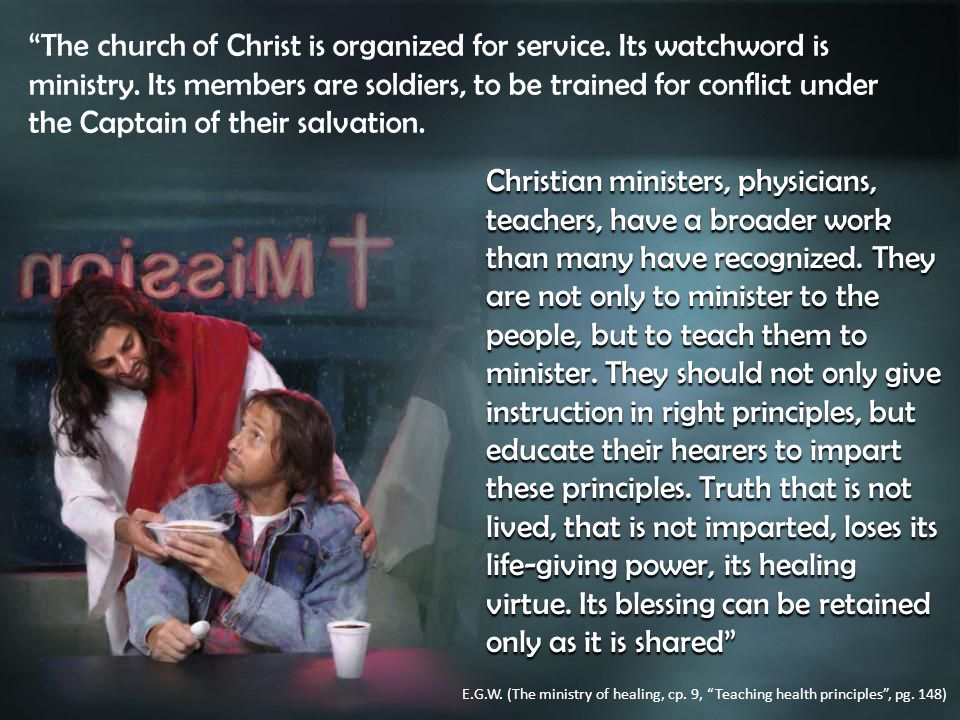 Christian ministers, physicians, teachers, have a broader work than many have recognized.