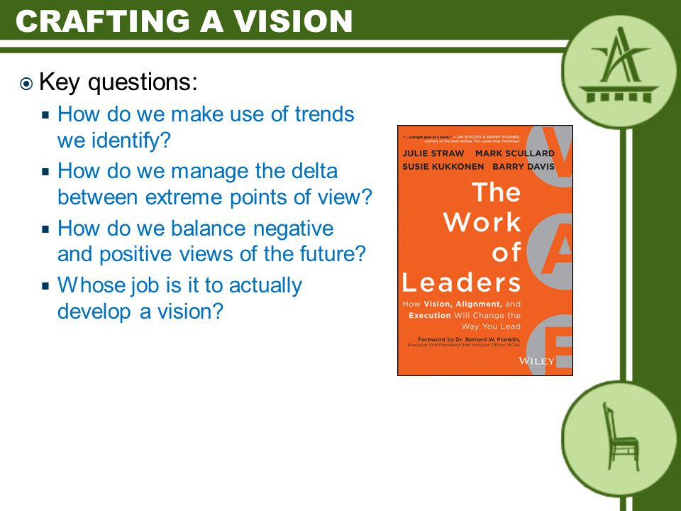  Key questions:  How do we make use of trends we identify.