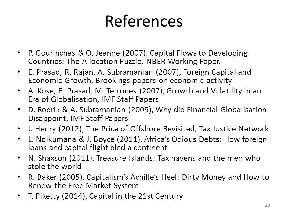 References P. Gourinchas & O.