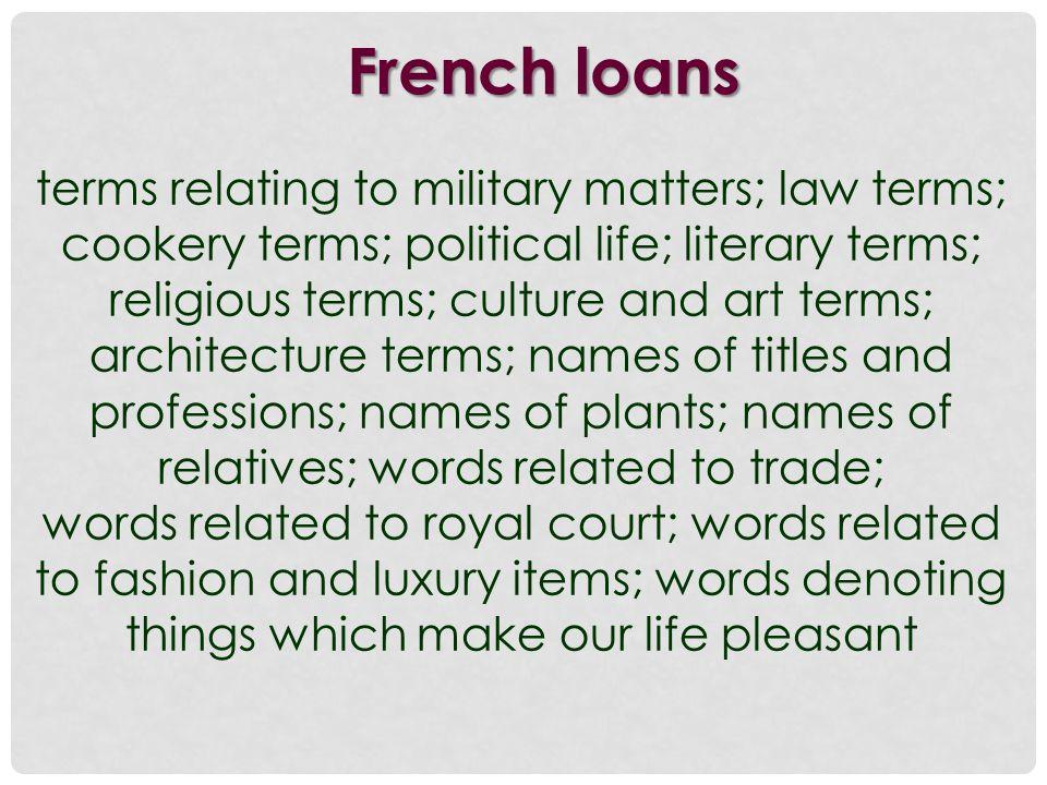 French affixes prefixes dis-, en- (disappoint, encircle) suffixes -ance, -ence, -merit, -ess, -et, -age (entrance, experience, agreement, princess, cabinet, courage)